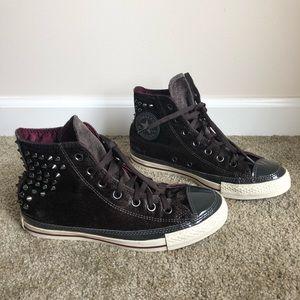 Rare Black Velvet Studded Chuck Taylor Converse